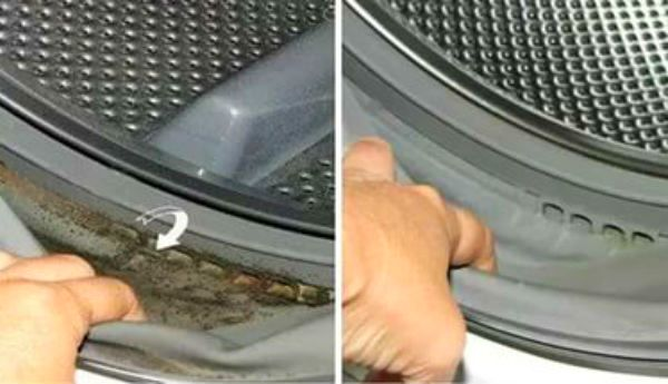 Очищение стиралки с помощью перекиси