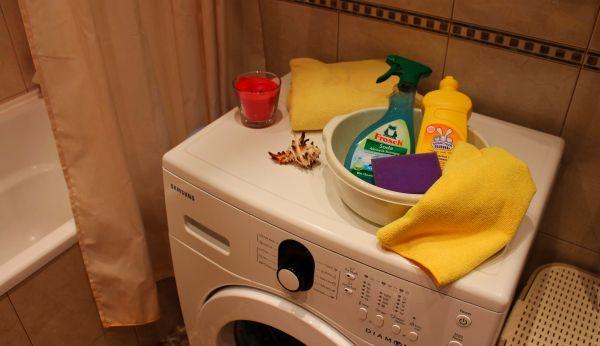 Бытовая химия для очищения стиралки