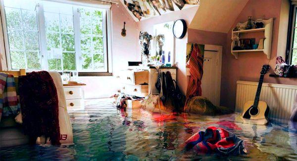 помещение после потопа