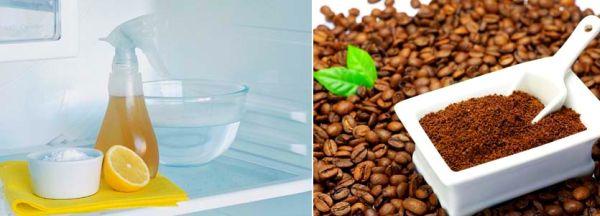 Средства от запахов - лимонный сок и кофе